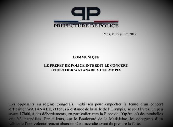 Préfecture de Police Paris – Copie