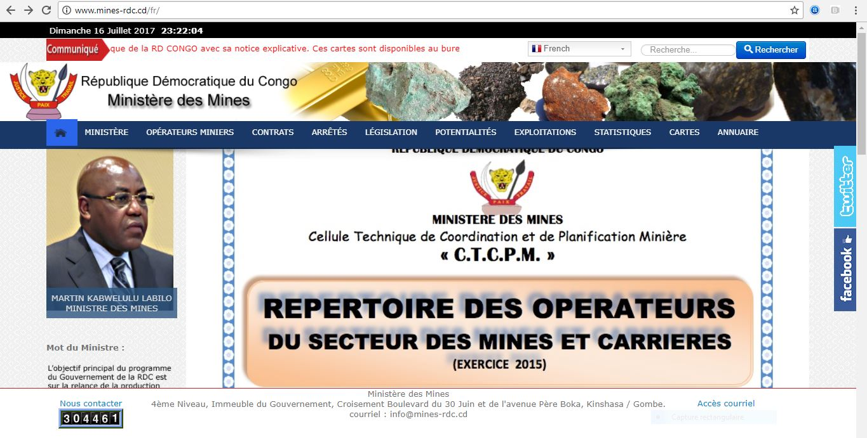RDC : 140 Contrats miniers existants non publiés sur le site web du Ministère des Mines !