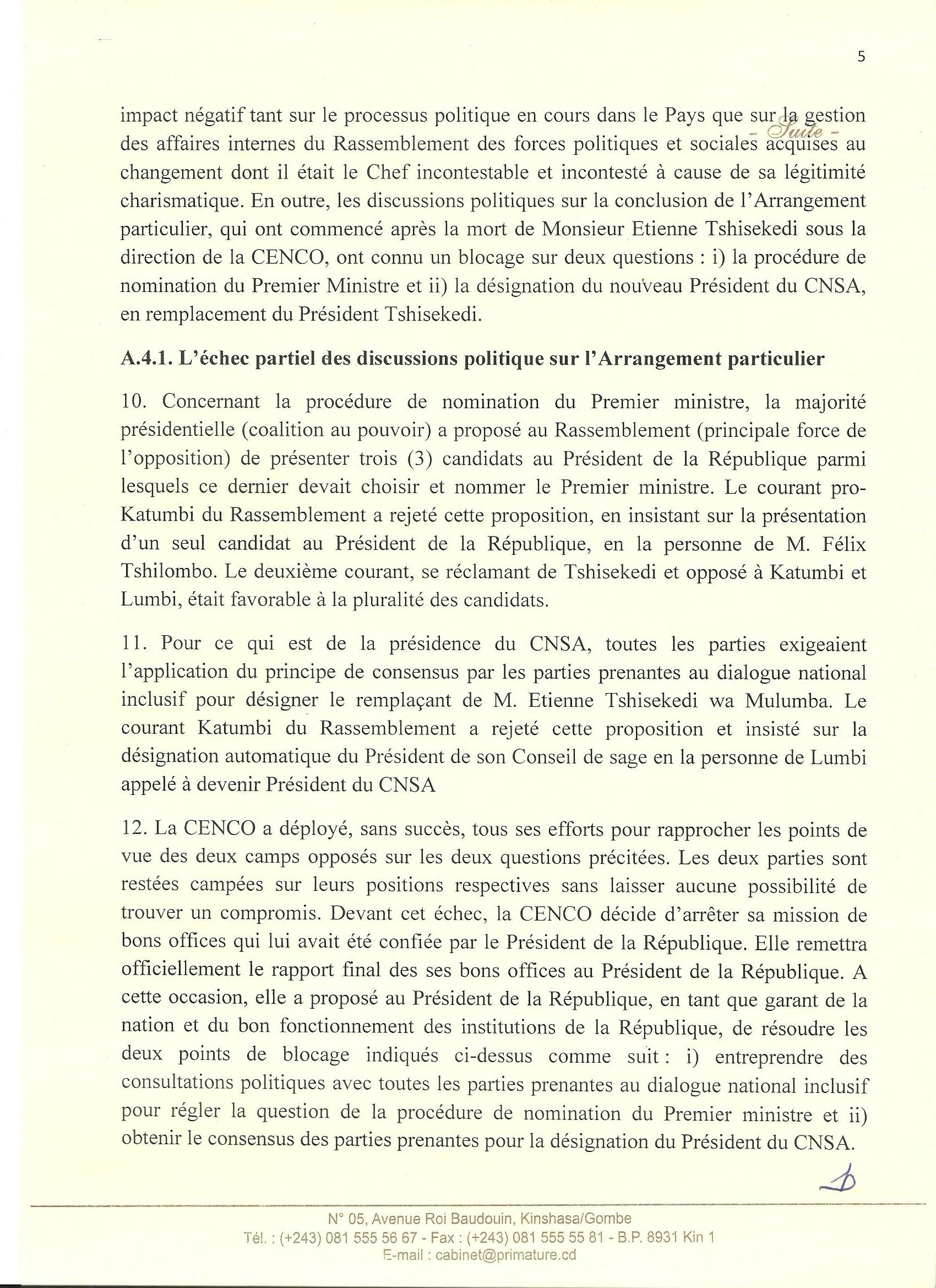 Situation Réelle en RDC – Primature -p5 @Zoom_eco