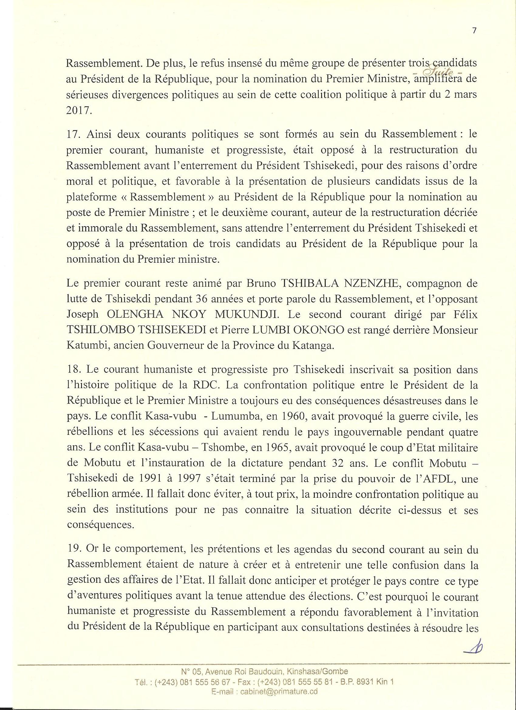 Situation Réelle en RDC – Primature -p7 @Zoom_eco
