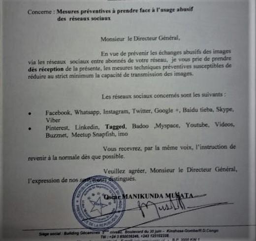 RDC : L'ARPTC enjoint aux Télécoms de réduire la capacité d'accès aux réseaux sociaux !