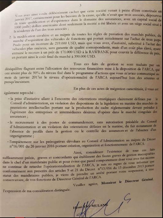 Lettre de suspension d'Eric Mboma p3 @Zoom_eco