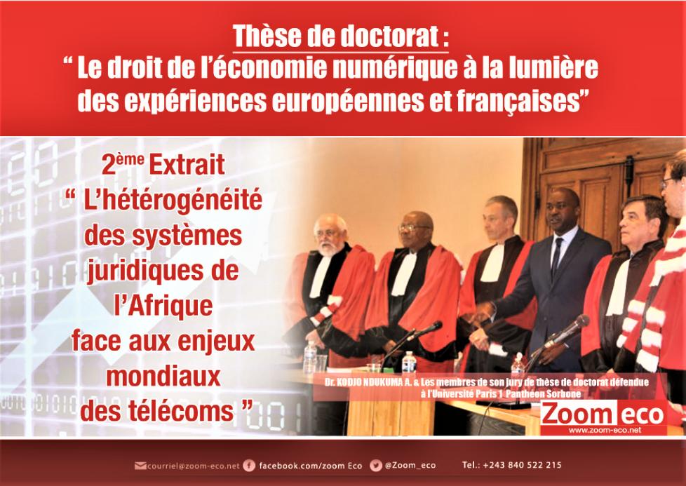 L'hétérogénéité des systèmes juridiques de l'Afrique face aux enjeux mondiaux des télécoms 14