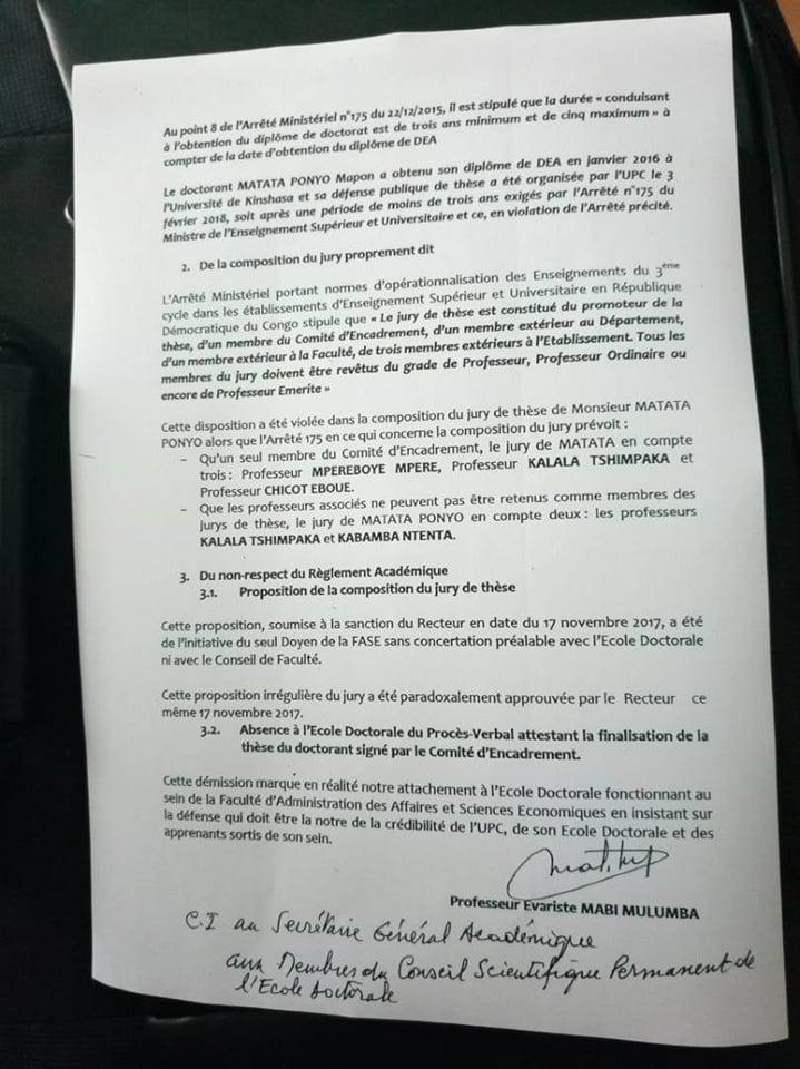 RDC: Matata Ponyo, auteur d'une thèse de doctorat présentée sur fond d'irrégularités! 2