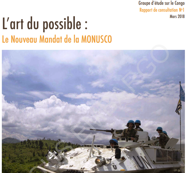 RDC: d'après GEC, la tenue d'élections crédibles devrait être la priorité de la MONUSCO! 1