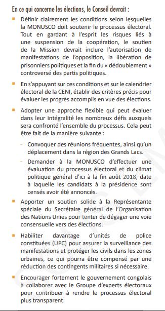 RDC: d'après GEC, la tenue d'élections crédibles devrait être la priorité de la MONUSCO! 2