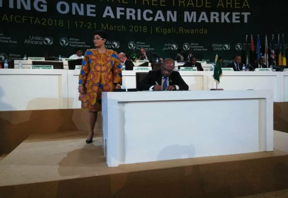 RDC : She Okitundu signe l'Accord sur la zone de libre-échange continentale africaine ! 7
