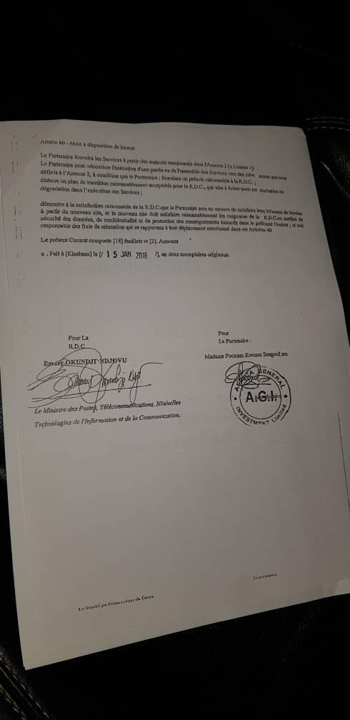 Contrat Télécoms 1