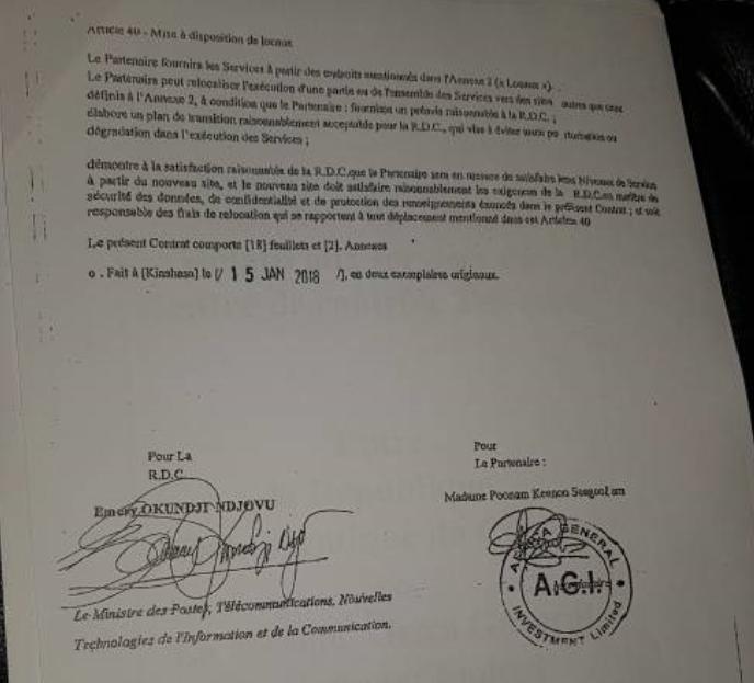 Contrat Télécoms 2