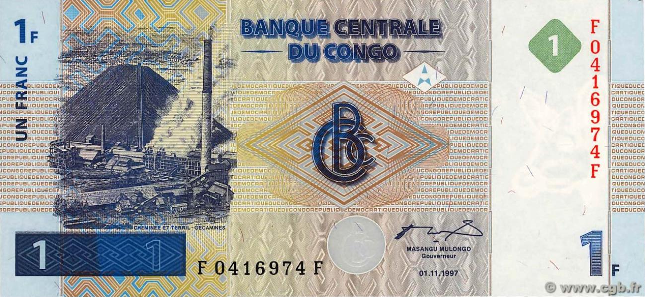RDC : 17 mai 1997 marque l'avènement du franc congolais ! 9