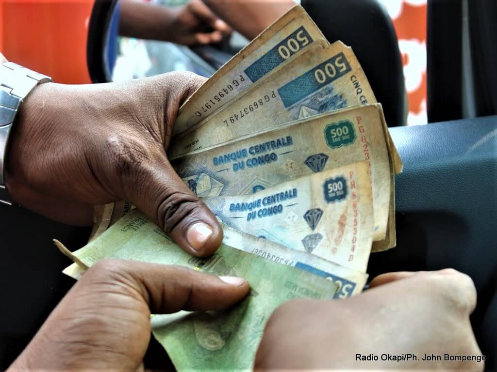 RDC: le franc congolais s'est déprécié de 0,55% en mai 2018 1