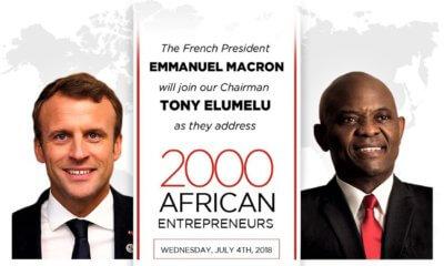 Afrique : Macron et Elumelu face à 2 000 jeunes entrepreneurs ce mercredi à Lagos 1