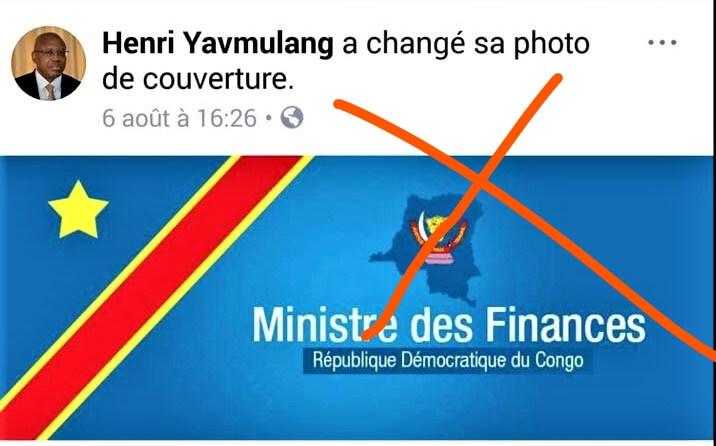 RDC: le ministère des Finances dénonce un faux compte Facebook attribué à Henri Yav Mulang 1
