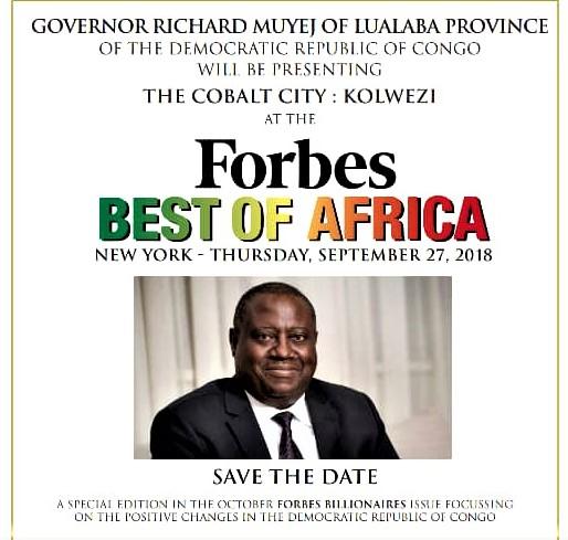 RDC : Richard Muyej invité de Forbes USA pour présenter la ville du Cobalt ! 1