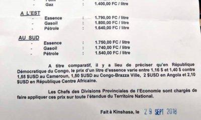 RDC : le ministère de l'Economie rend publique la nouvelle tarification du carburant ! 16