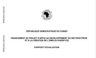 RDC : PADSP-CE, le budget alloué par la BAD risque d'être annulé ! 11