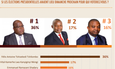 RDC : présidentielle, 70% d'opinions favorables à la candidature unique de l'opposition 7