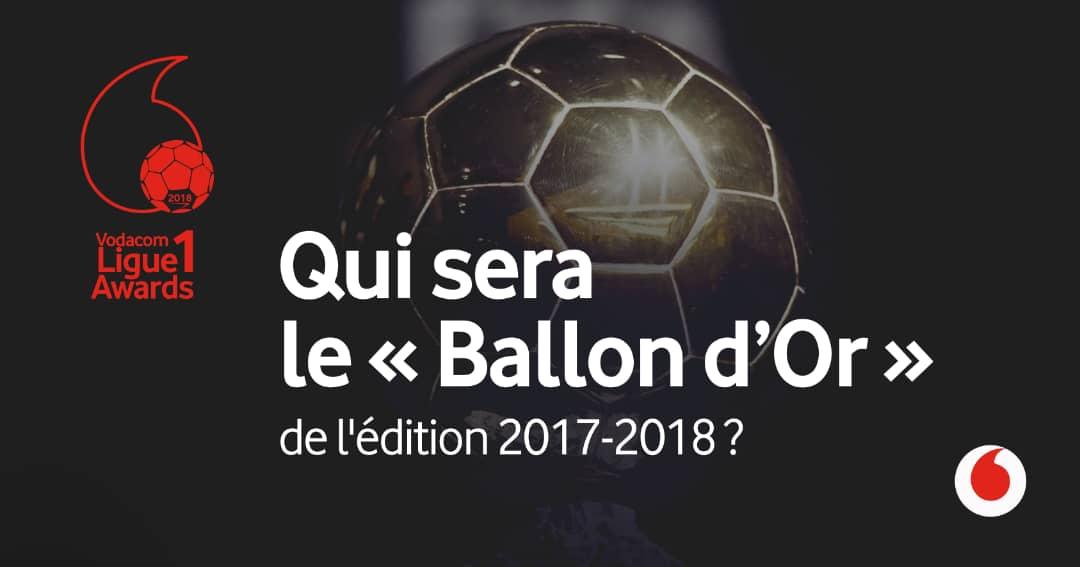RDC : Vodacom Ligue 1 Awards, vote du ballon d'or lancé jusqu'au 11 octobre 2018 1