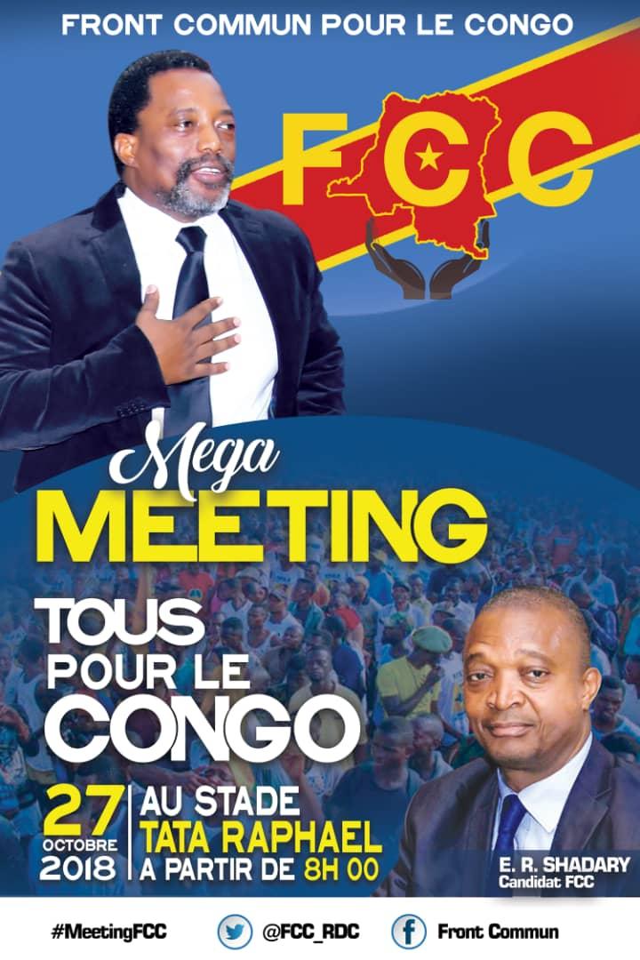 RDC: le FCC maintient son meeting de ce samedi 27 octobre 1