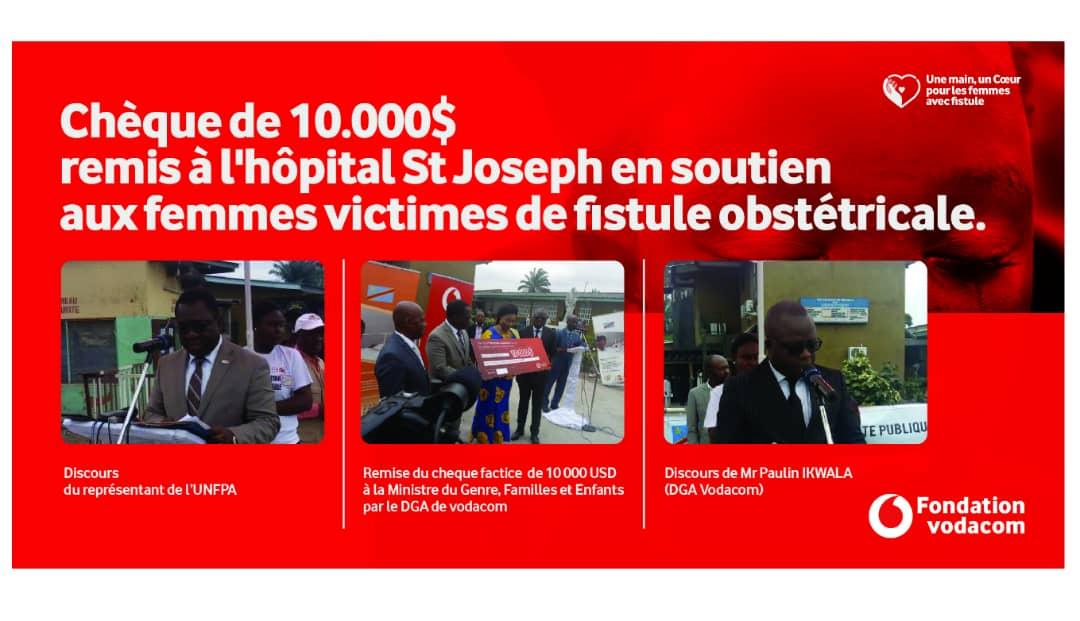 RDC : Vodacom Congo assiste les femmes souffrant de fistule obstétricale ! 1