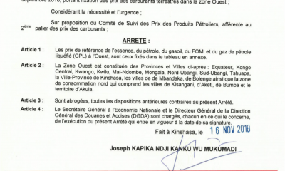 RDC : carburant, hausse du prix du litre de 130 CDF dès ce dimanche (document) 8