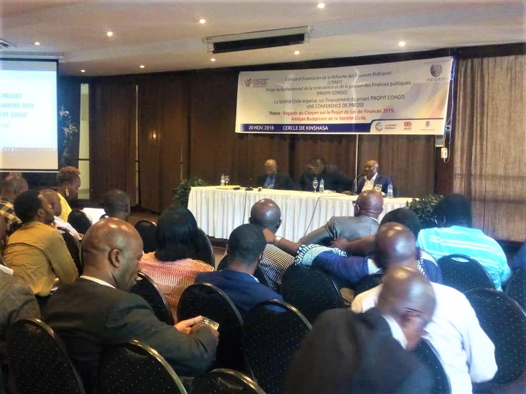 RDC : le budget 2019 ne reflète pas le potentiel fiscal du pays (société civile) 1