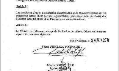 RDC : Cobalt, germanium et coltan déclarés substances stratégiques ! 6