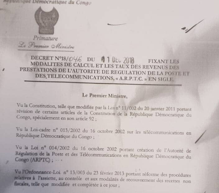 RDC : Décret «Tshibala», déclencheur d'une hausse de prix des services téléphoniques ! 1