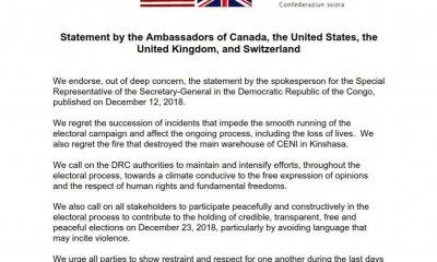 RDC : violence pré-électorale, les partenaires internationaux expriment leurs vives inquiétudes ! 8