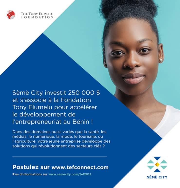 Afrique : Fondation Tony Elumelu s'associe à Sème City pour promouvoir 50 entrepreneurs béninois 1