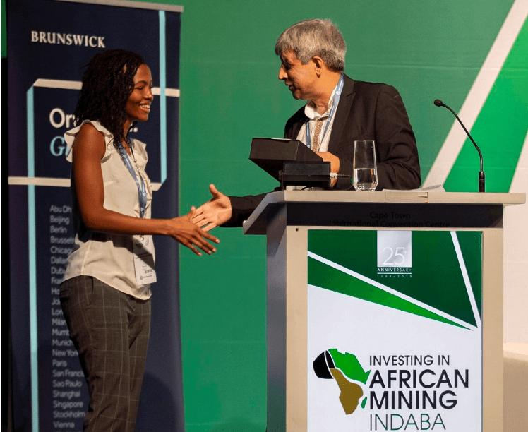 Mining Indaba: Olebogeng Sentsho vainqueur du concours « jeunes leaders du futur » 2