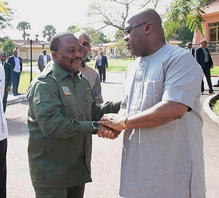 RDC : Kabila, le boss de la majorité parlementaire reçu par Tshisekedi 1