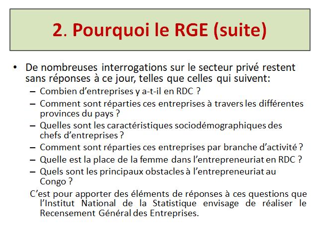 RDC : le Recensement général des entreprises lancé va coûter 14 millions USD ! 2