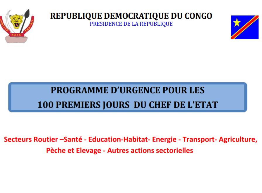 RDC : Tshisekedi aligne 304 millions USD pour son programme d'urgence ! 1