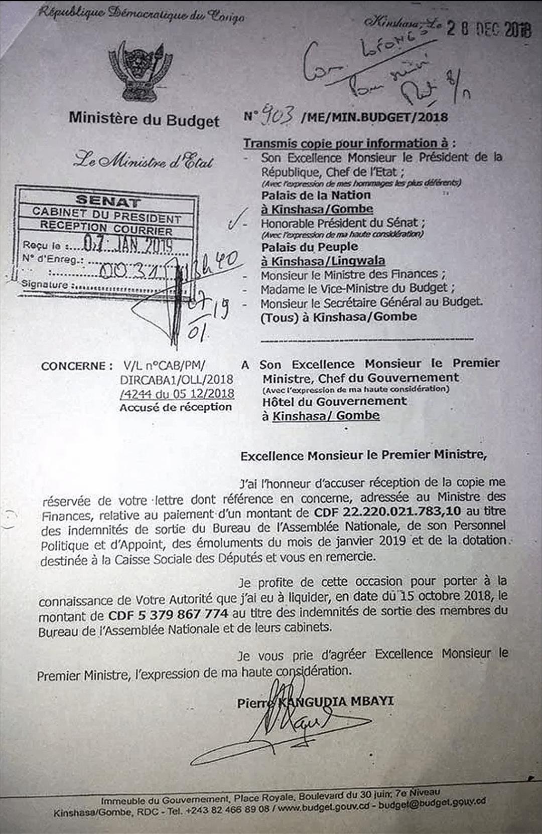 RDC : trois millions de dollars détournés au Sénat ? 3