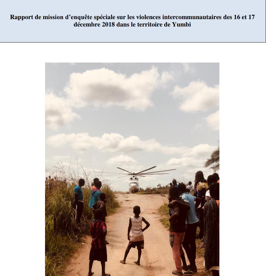 RDC : ce que révèle l'enquête de l'ONU sur crime contre l'humanité à Yumbi 1