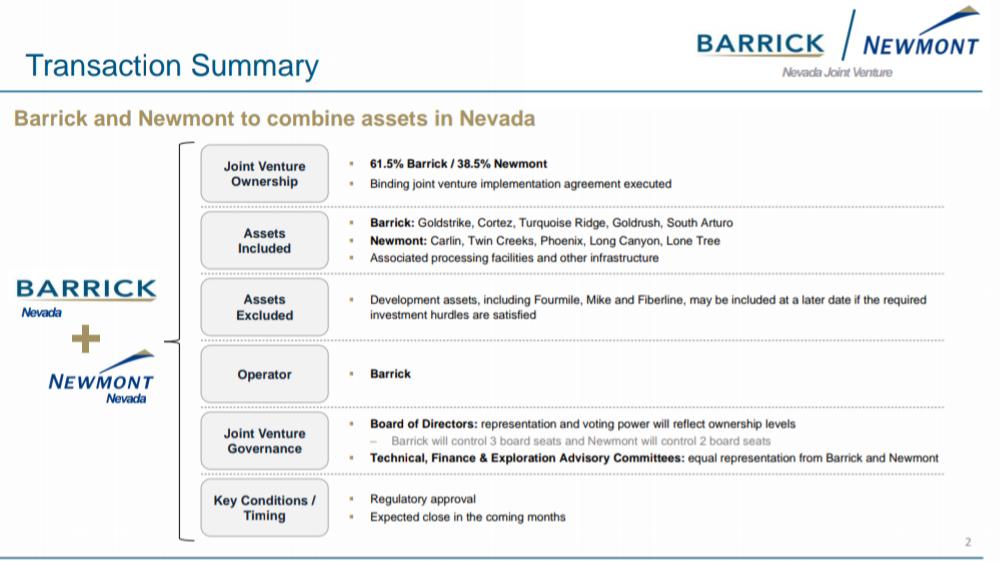 USA : Barrick-Newmont, la joint-venture historique de l'or au Nevada ! 3