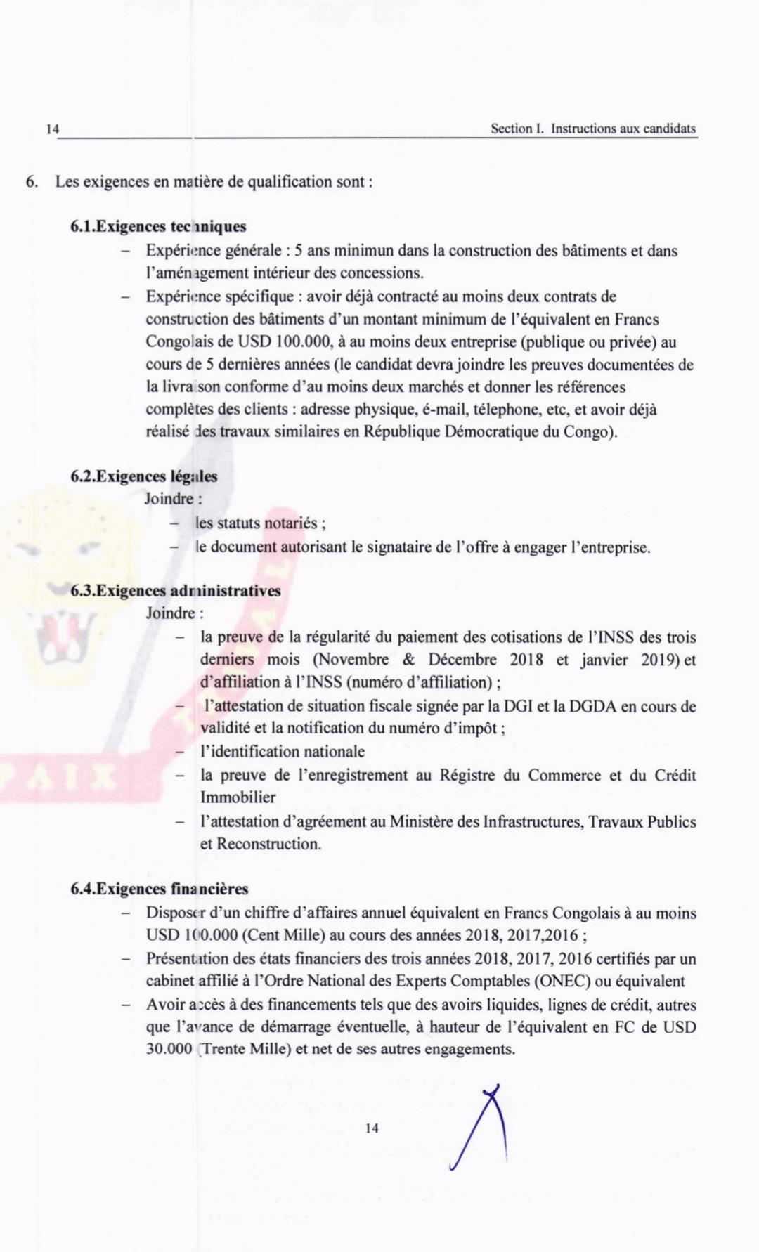RDC : l'ACGT lance un appel d'offre pour les travaux de construction de sa concession de Mpasa! 3