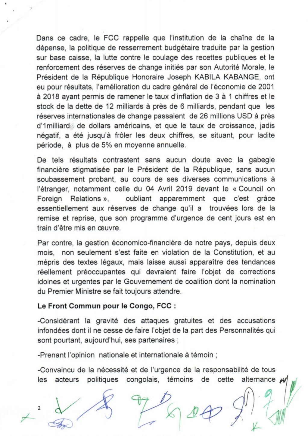 RDC : FCC contre la gestion des fonds publics au mépris des lois ! 3