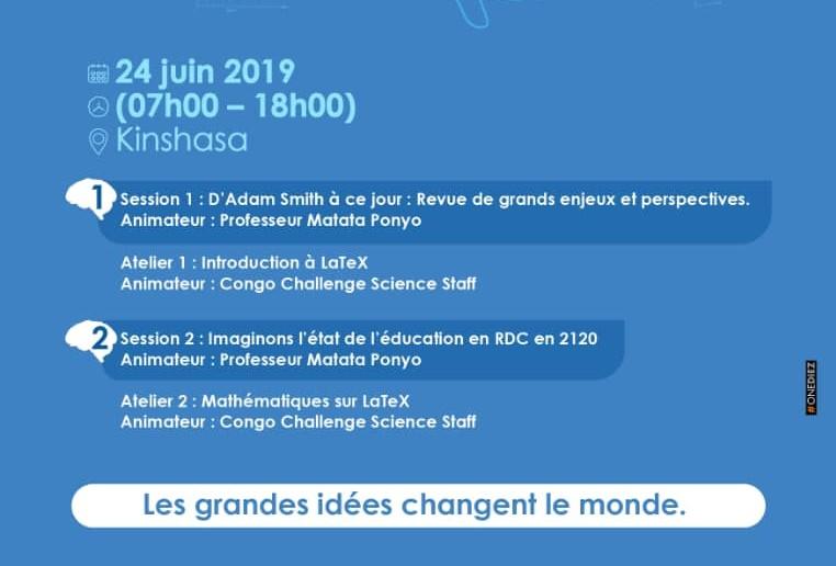 """RDC : 1ère édition du Forum """"Congo Challenge Science"""" prévue le 24 juin à Kinshasa 2"""