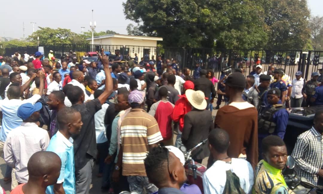 RDC : des militants de l'UDPS expriment leur mécontentement au palais du peuple! 1