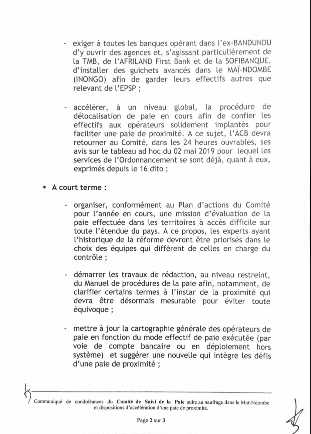 RDC : les dix mesures du Comité de suivi de la paie des agents de l'État ! 3
