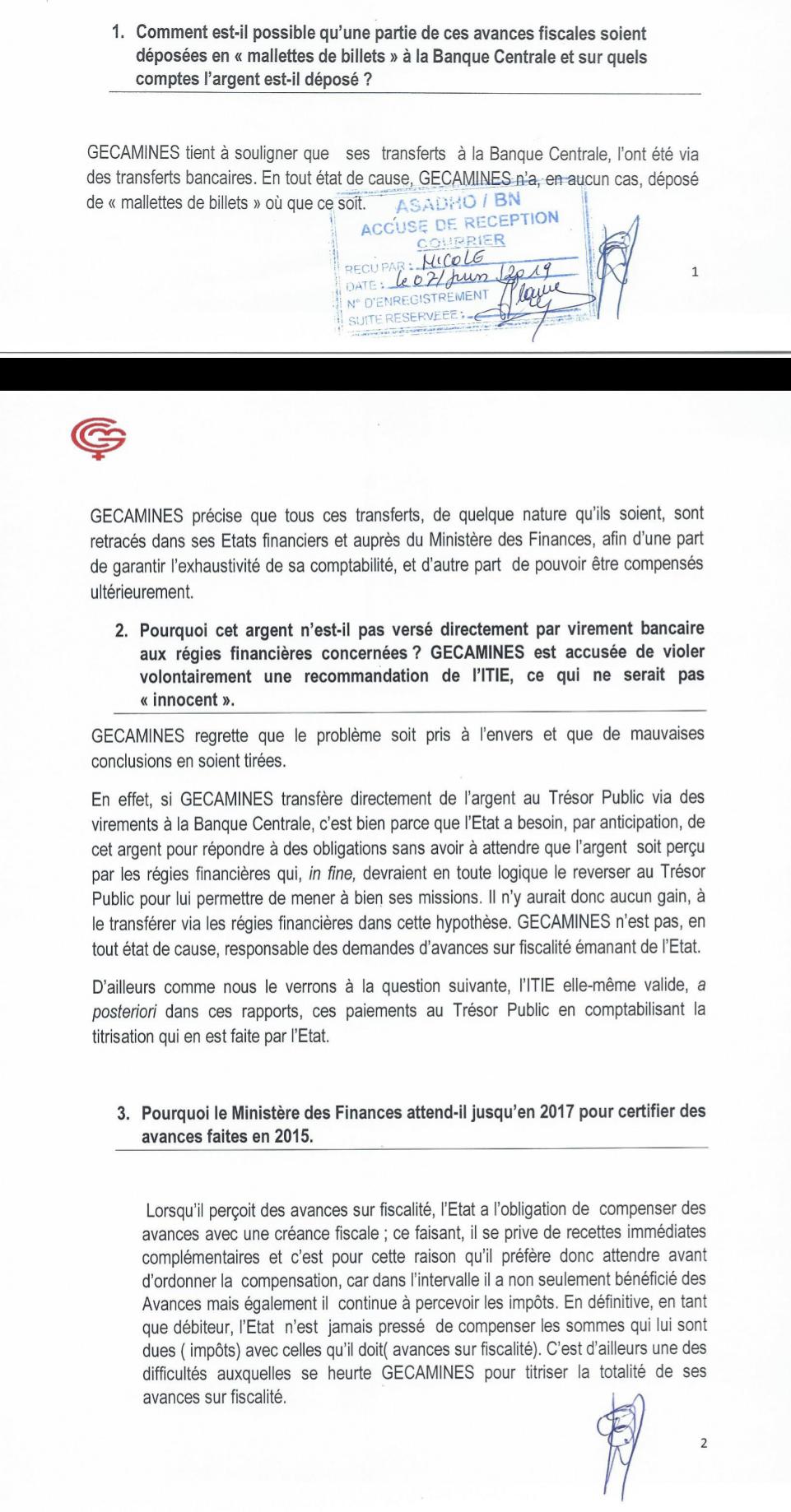 RDC : mise au point de Gécamines sur l'opacité de ses opérations financières 2