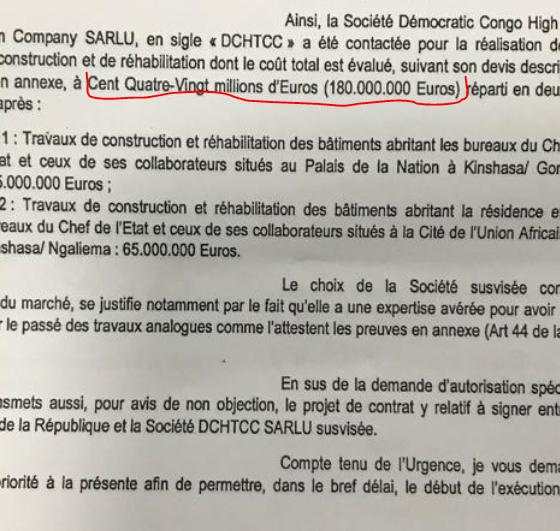 """RDC: scandale autour de l'attribution à """"DCHTCC"""" du marché de construction du Palais présidentiel! 15"""