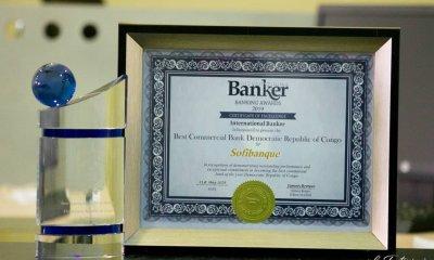 RDC: International Banker décerne à SOFIBANQUE deux Awards 2019 de meilleure banque 21