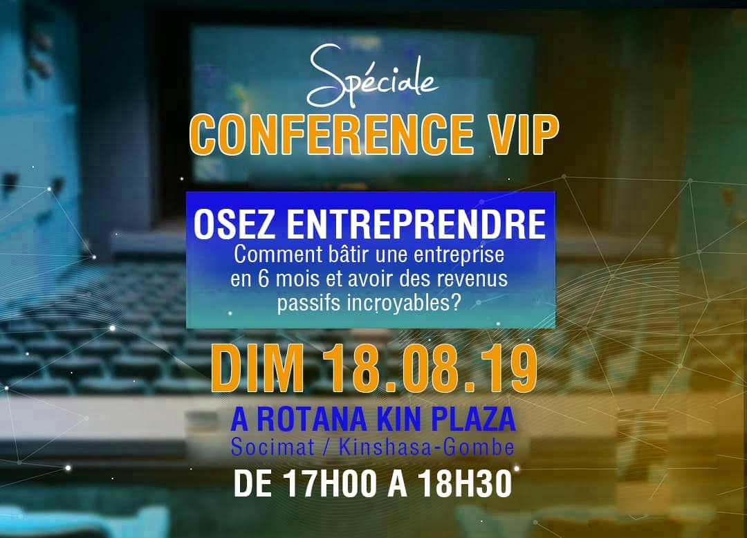 """RDC : """"osez entreprendre différemment"""", thème d'une conférence du Réseau des vainqueurs 1"""