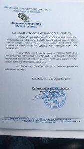 RDC : l'OCC dénonce un faux compte Twitter au nom de son directeur général Célestin Pierre Risasi Tabu 2