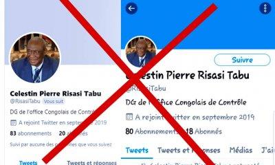 RDC : l'OCC dénonce un faux compte Twitter au nom de son directeur général Célestin Pierre Risasi Tabu 59