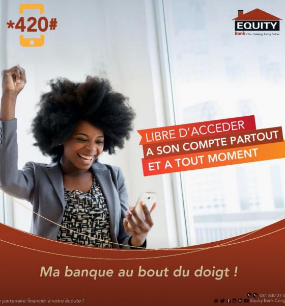 RDC : *420#, le mobile banking d'Equity Bank hors connexion internet 1