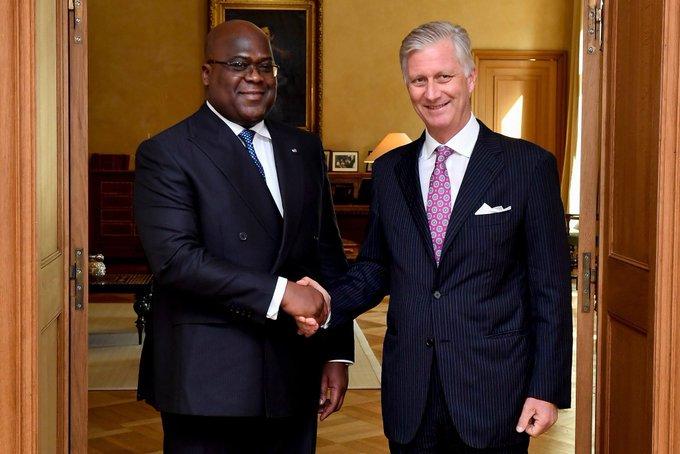 RDC - Belgique : le président Tshisekedi reçu par le roi Philippe 1